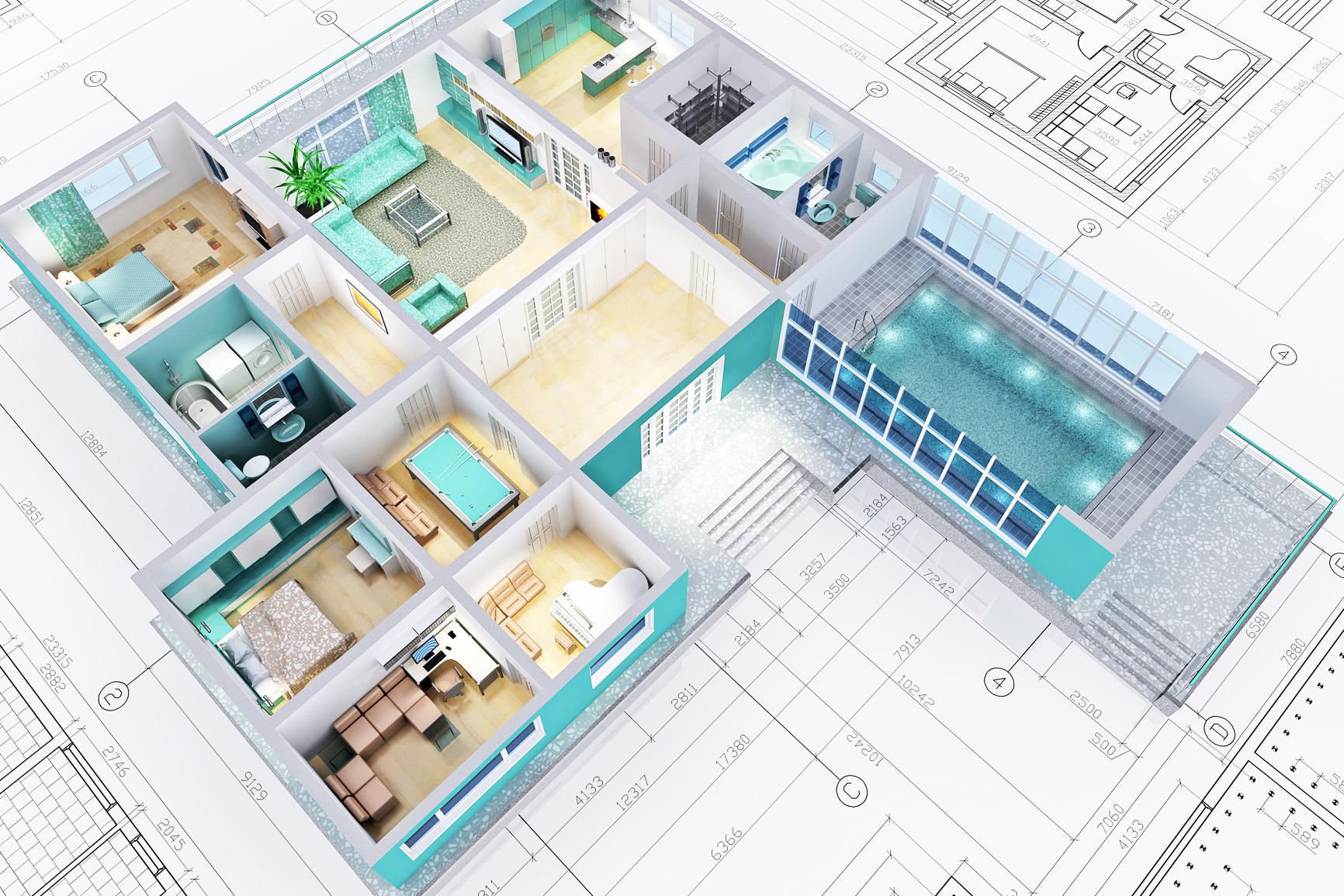 progetto 3d progettazione interni modena