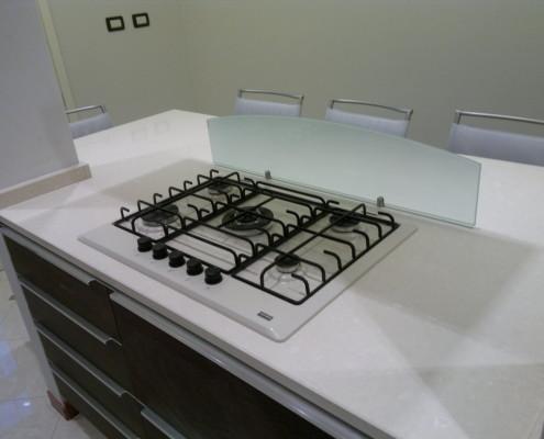 Il piano cottura della cucina