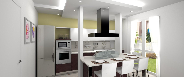Il render del nostro progetto per rinnovare la cucina