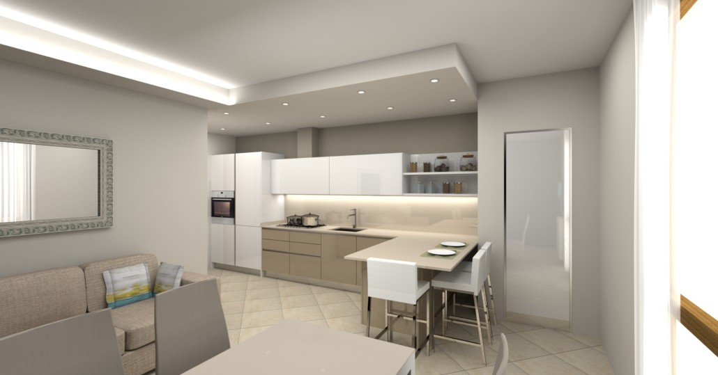 Ristrutturazione cucina e soggiorno arredamenti campana for Arredamenti per ingresso appartamento